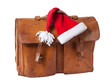Briefcase and Santa Hat