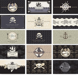 set of business cards for the pirate bar poster
