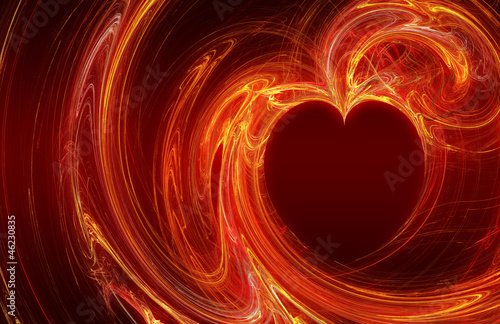canvas print picture Hot Fire Love