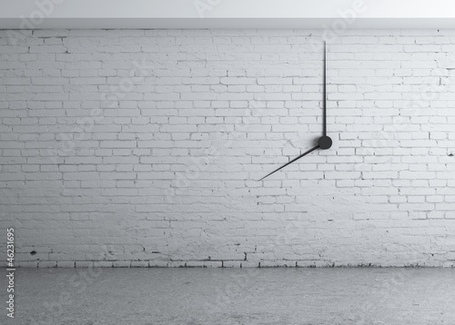 clock in wall