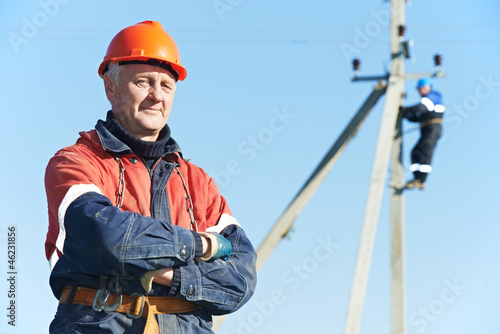 power electrician lineman portrait