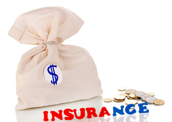concept insurance isolated on white