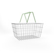 Shopping basket isolated