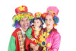 happy clown family