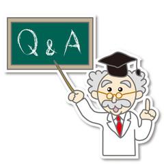 Q&Aを指す博士のイラスト