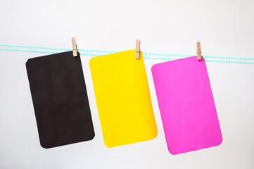 Multicolor hang paper