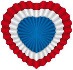 Heart cockade USA flag - coccarda cuore bandiera USA