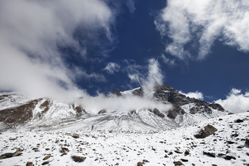 snow glacier in Himalaya mountain