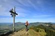 Bergwanderer am Gipfel