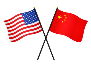 Flags: the USA and China