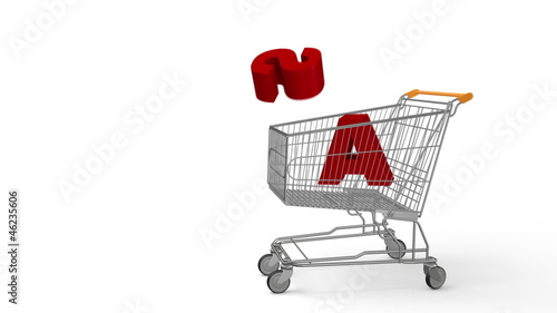 Sale and shopping cart, dynamic simulation