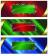 Set of Christmas web banners