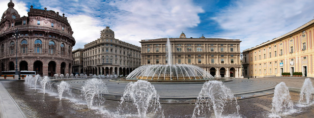 Piazza DE Ferrari in Genova, Italia