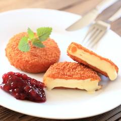gebackener Camembert - quadratisch