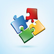 puzzle picies vector icon
