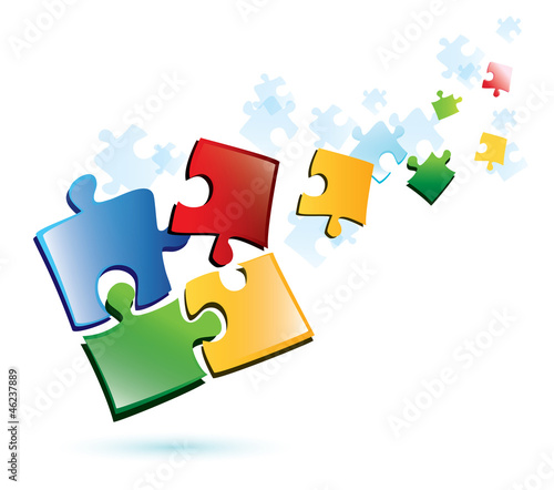 puzzle vector background