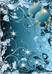 fond de noel bleu