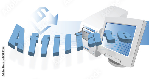 image of word affiliate with computer monitor