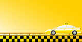 business taxi car background with road