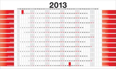 Planner 2013 red - PT