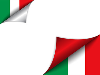 Italy Country Flag Turning Page