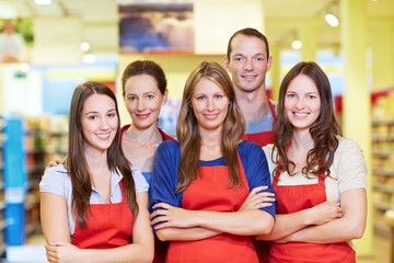 Starkes Supermarkt-Team