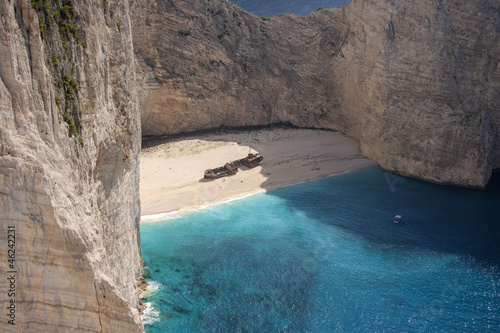 The famous Navagio beach