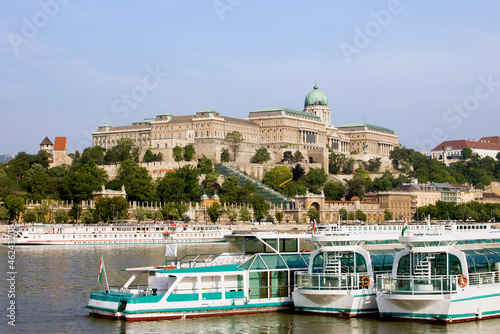 Royal Palace and Boats on Danube River