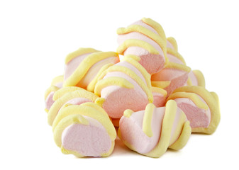 colorful marshmallows isolated