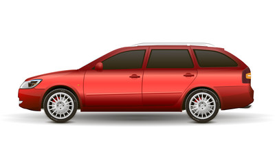 red vector car