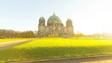 Berliner Dom (Berlin Cathedral) Motion Timelapse with Sunlight