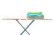 Ironing board with towels