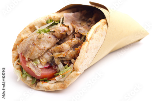 canvas print picture close up of  kebab sandwich