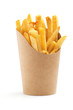 canvas print picture - french fries in a paper wrapper