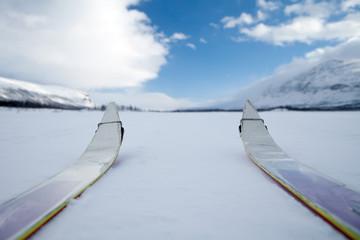 Auf skiern in Lappland