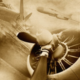 Fototapety Retro aviation, vintage background