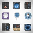 gps vector icons