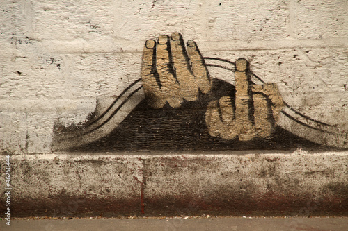 Fototapeten,brücke,wand,fassade,graffiti