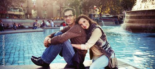 Pleased couple