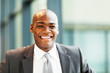 handsome african american businessman closeup portrait