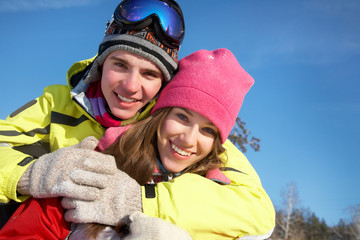 couple in wintertime