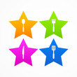 Abstract set kitchen star logo