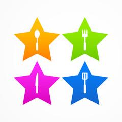 Abstract set kitchen star logo
