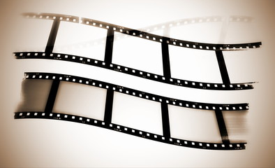Sepia blank film strip