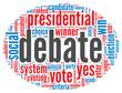 Presidential debate concept