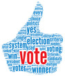 Presidential vote concept