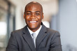 smiling african american businessman closeup portrait