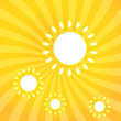 Abstract web design background with sun with sun rays.
