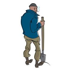 Digger - man with shovel