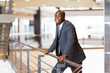 african american businessman in modern office building